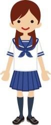 student clipart female uniform animated clip sailor illustration highschool vector suit cliparts asian japan computer character
