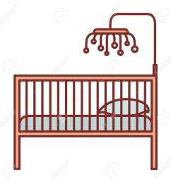 1300x1300 color silhouette with thick contour of baby crib with wood railing [ 1300 x 1300 Pixel ]