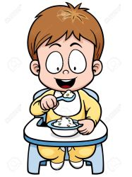 eating baby clipart vector cartoon illustration child clip boy chinese explore clipartmag