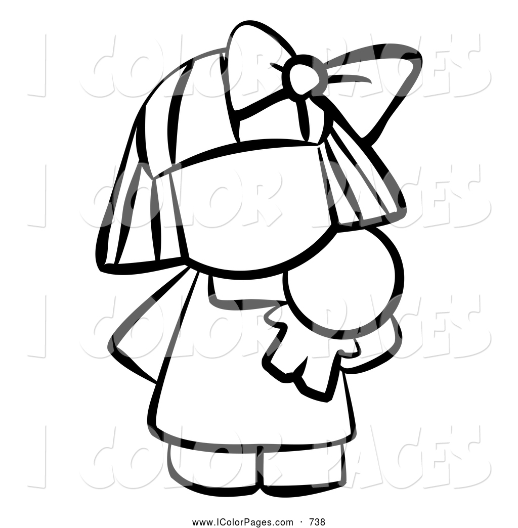Baby Girl Clipart Black And White