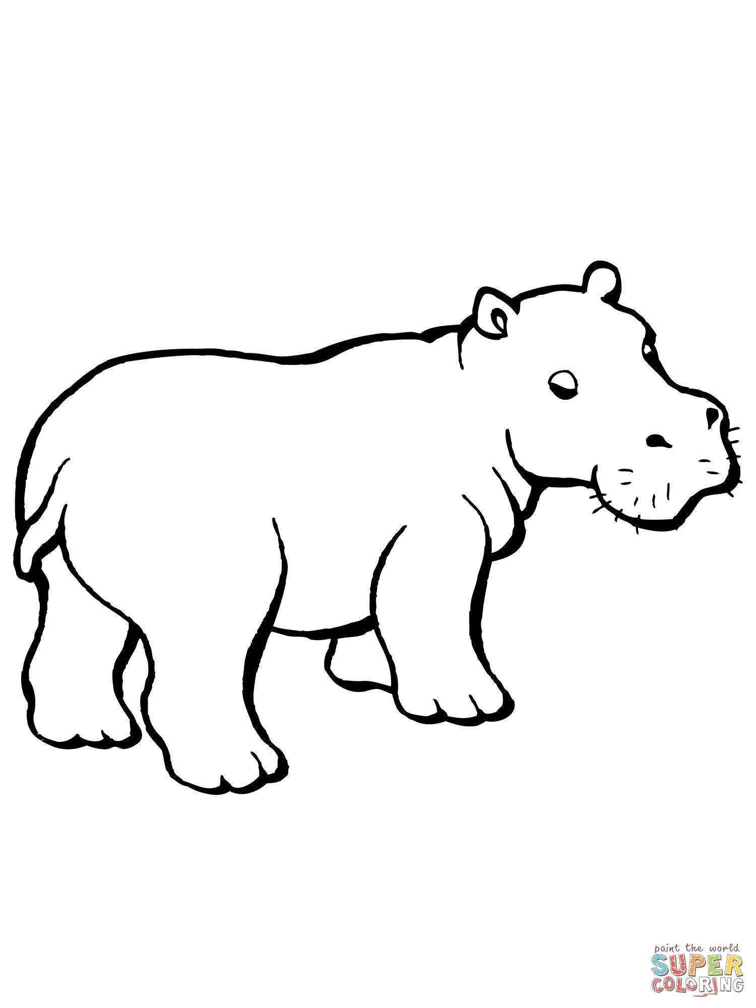 Baby Hippo Clipart