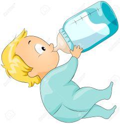 milk clipart drinking bottle trinken clip coffee vector pot clipartmag milch