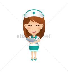 1300x1300 nurse carrying baby vector image [ 1300 x 1300 Pixel ]