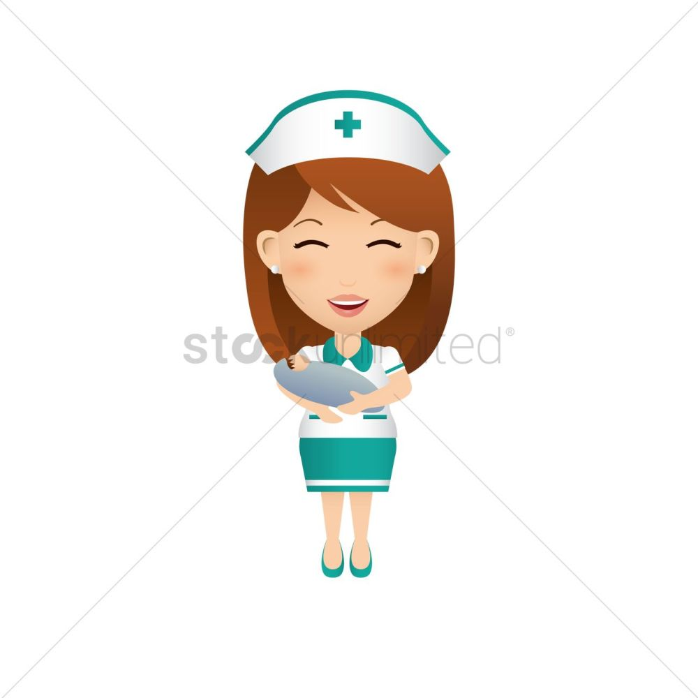 medium resolution of 1300x1300 nurse carrying baby vector image
