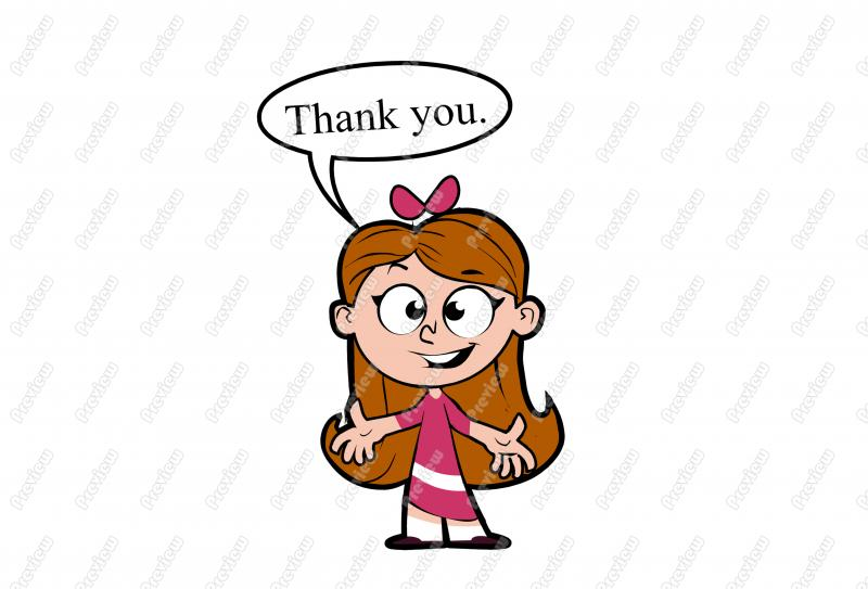 baby thank you clipart