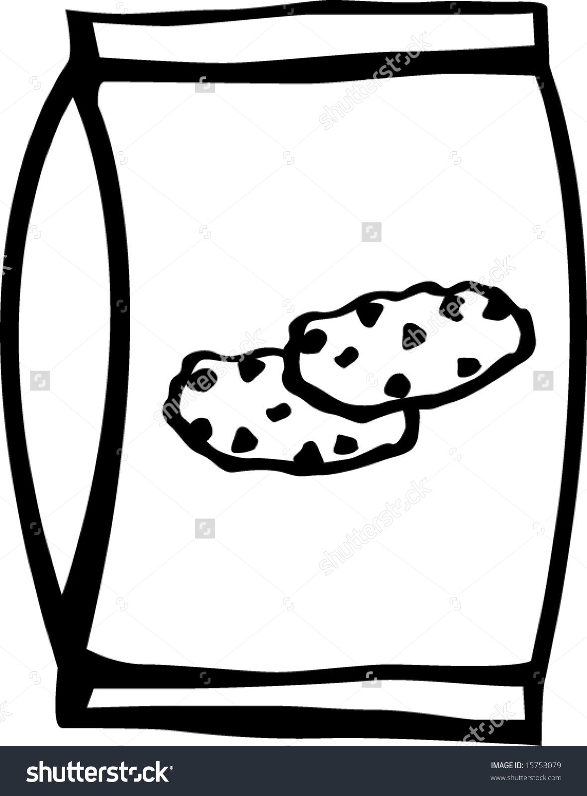 Art Bag Potato Chip Black White Clip And Plain
