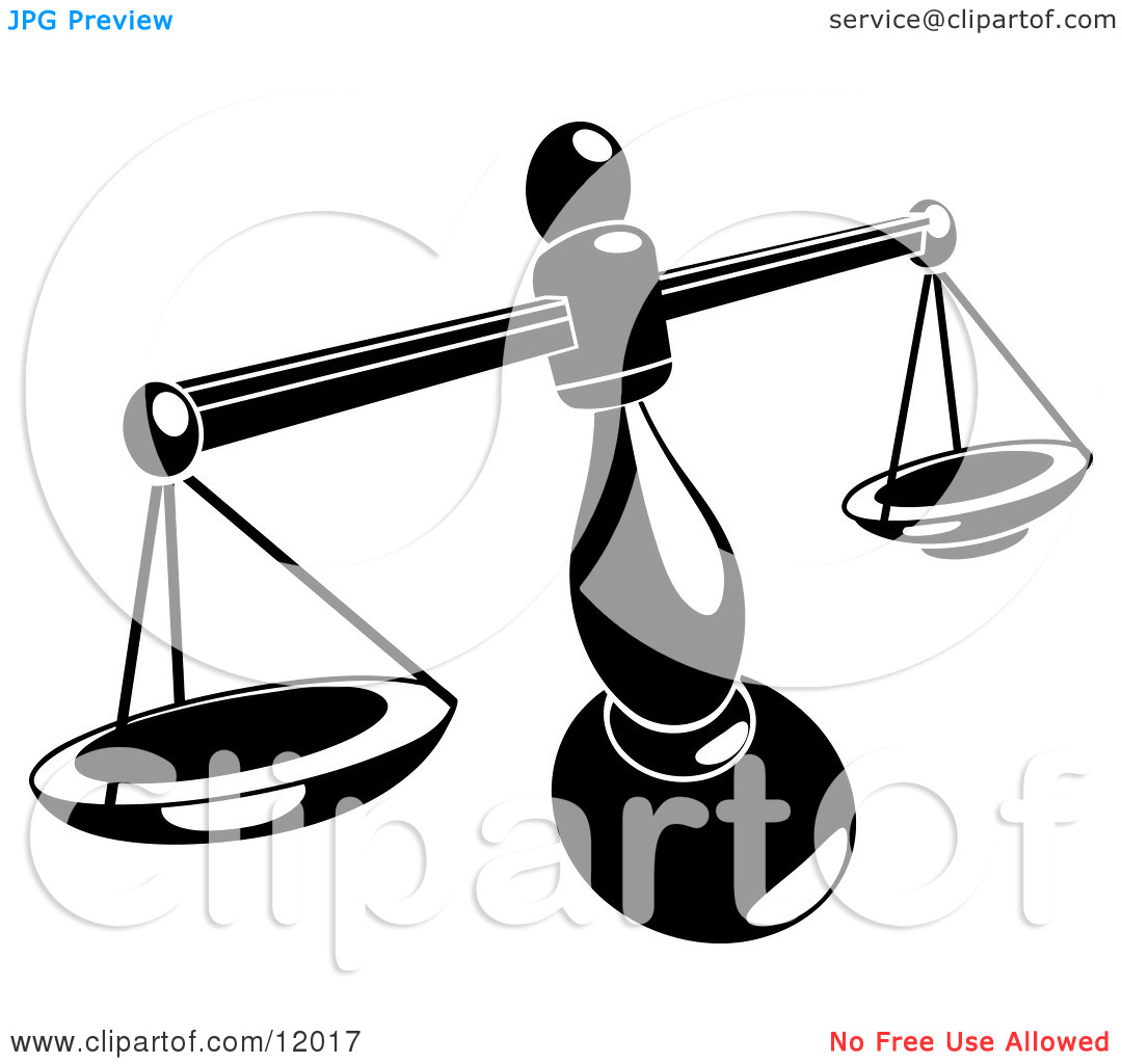 Balance Scales Clipart