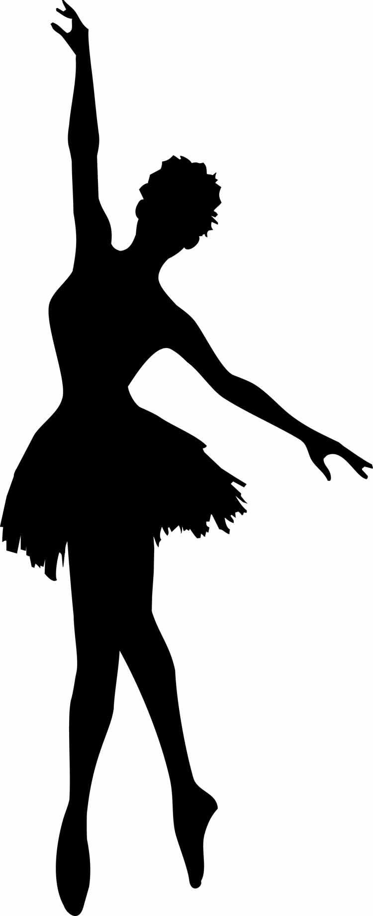 medium resolution of 750x1842 ballerina clipart female dancer