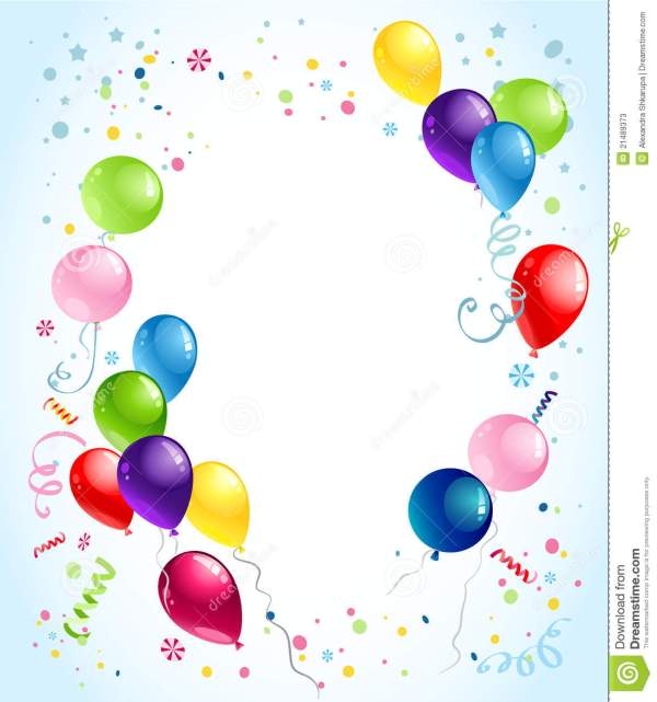 balloon background clipart free