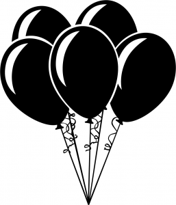 balloons black and white free