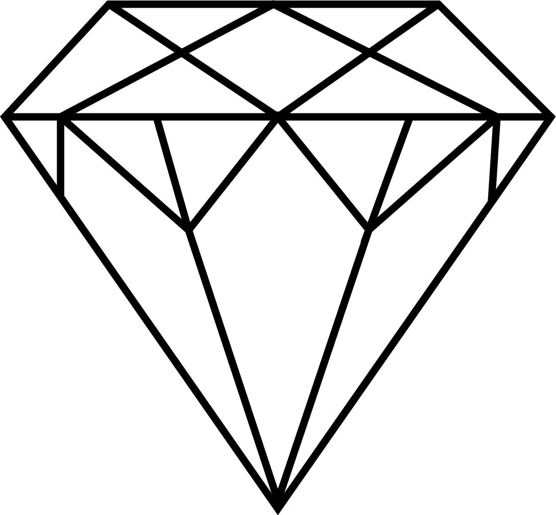hight resolution of 1090x1009 drawn diamond template