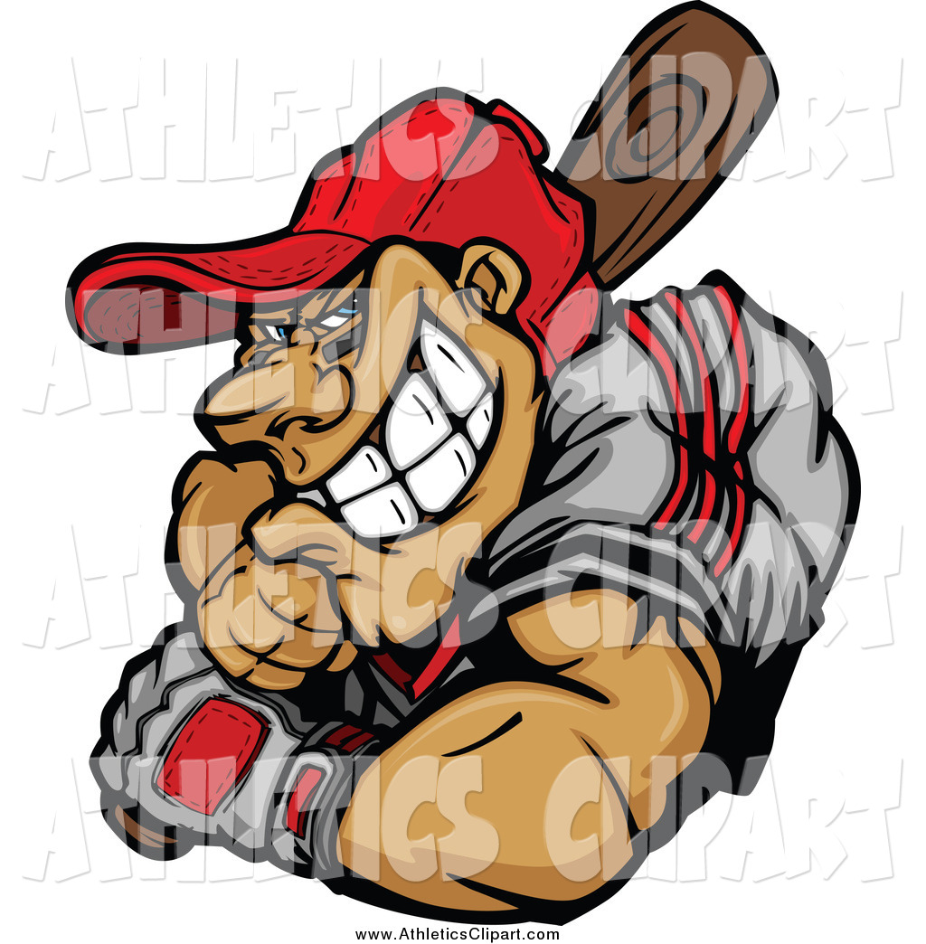 hight resolution of 1024x1044 clip art of a muscular baseball player batting by chromaco