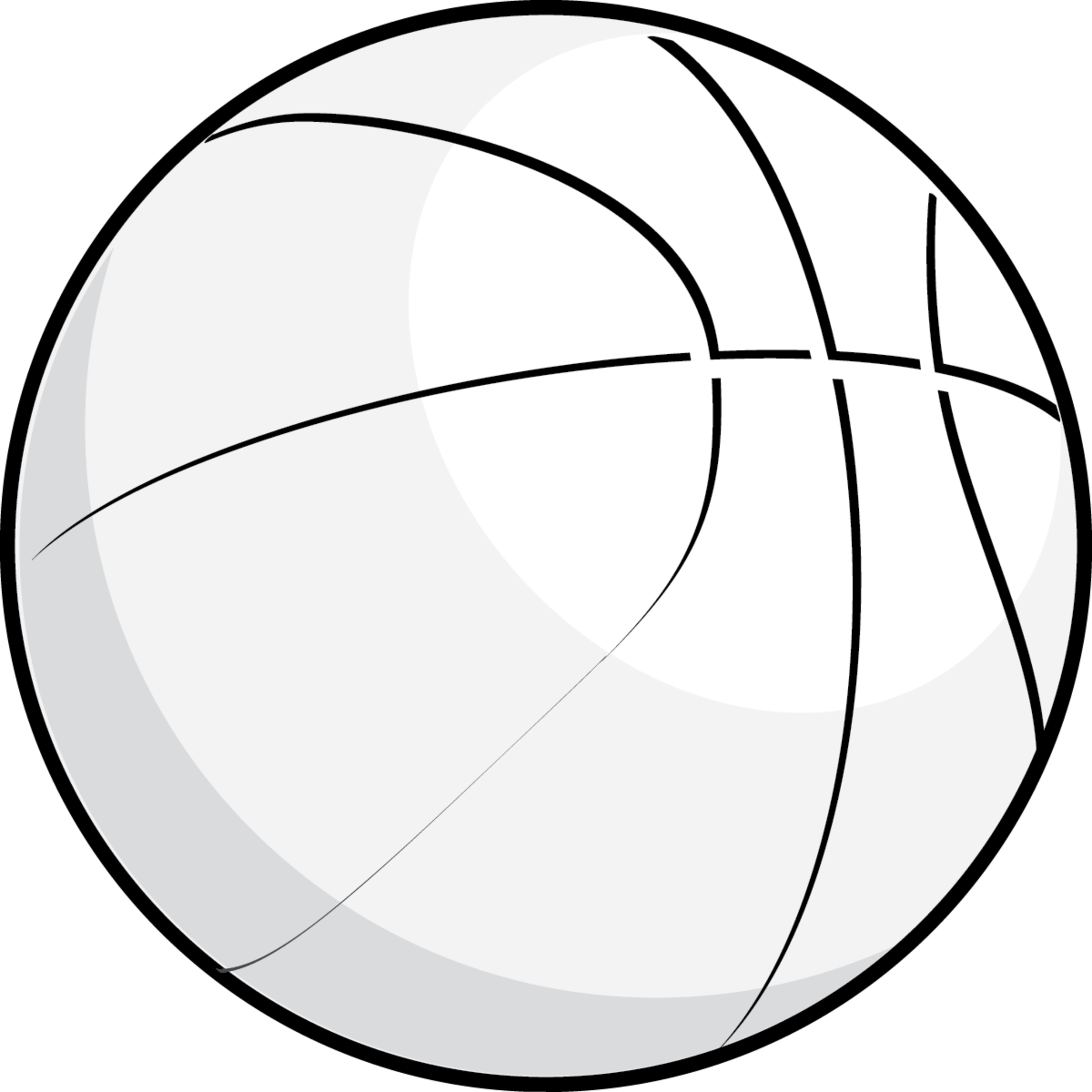 Basketball Outline Clipart