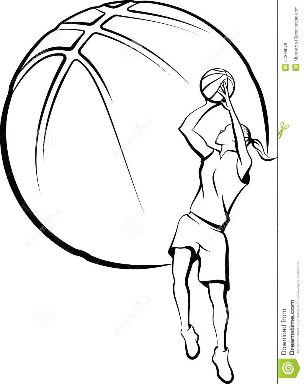 Basketball Outline Clipart