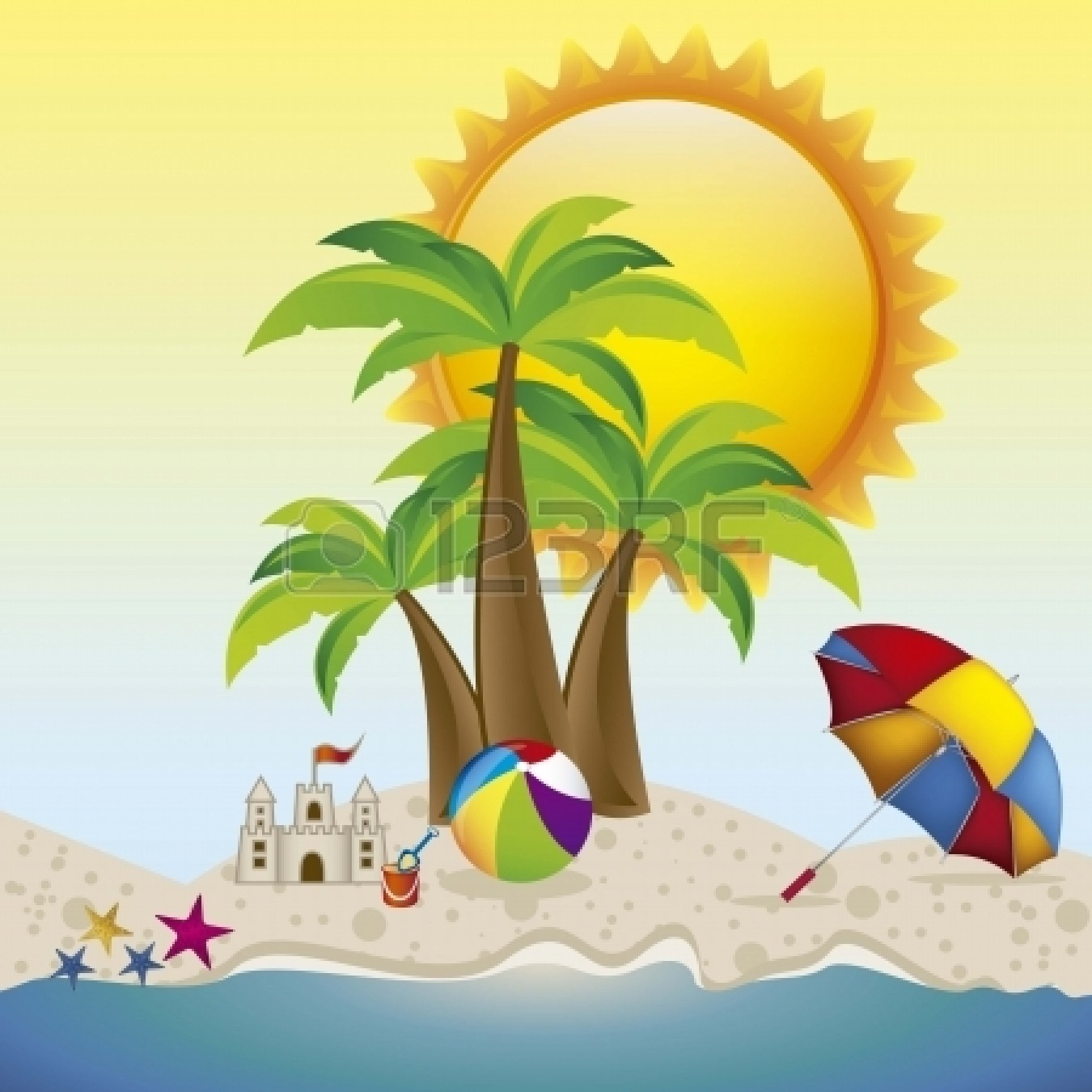 hight resolution of 1350x1350 vacation clipart beach background