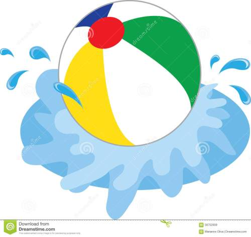 small resolution of 1300x1233 beach ball in water clipart