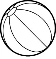 Beach Balls   Free Coloring Pages