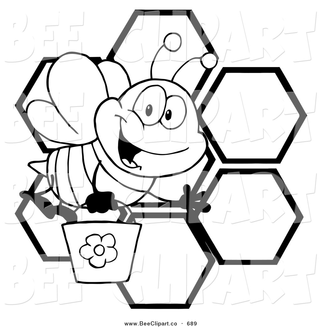 Beehive Clipart Black And White