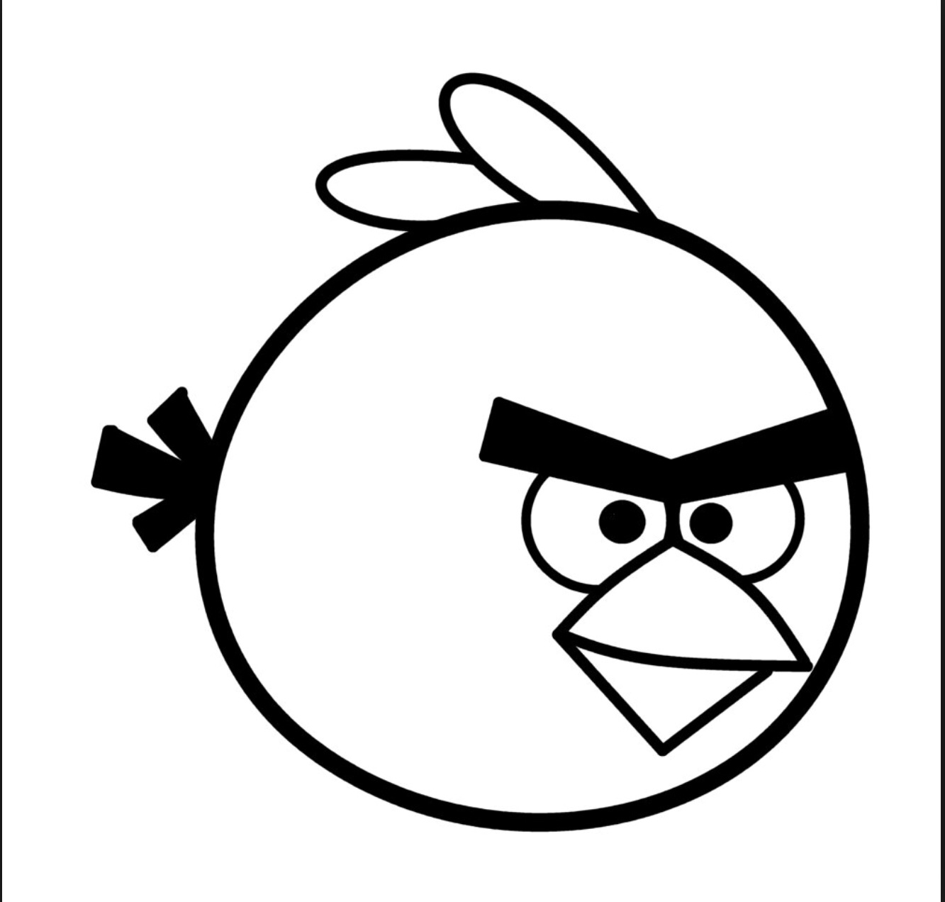 Bird Clipart Black And White
