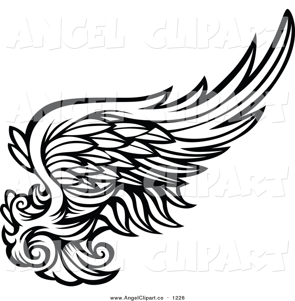 Black And White Angels Clipart