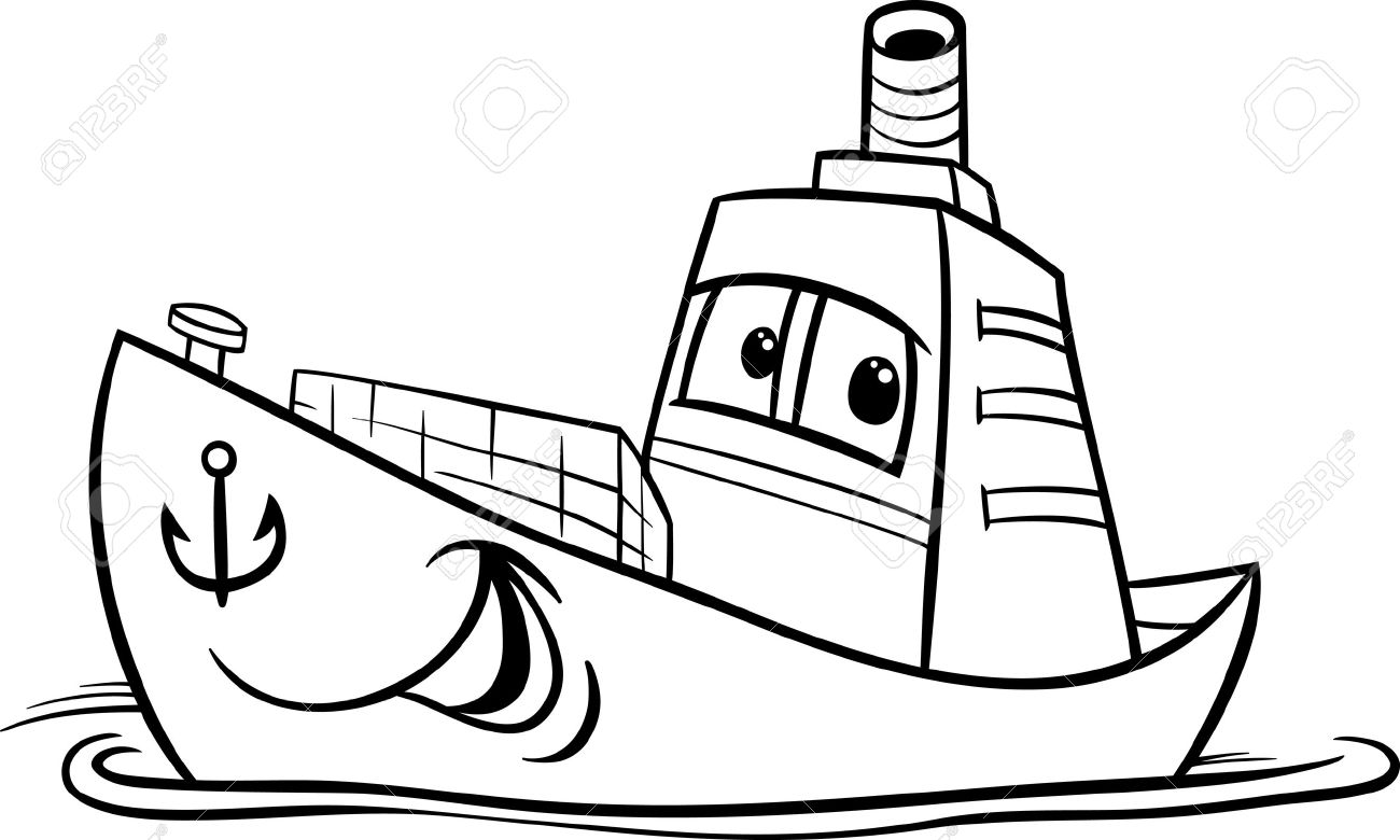 Black And White Boat