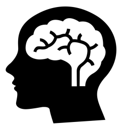 1000x1000 thinking brain clipart black and white [ 1000 x 1000 Pixel ]