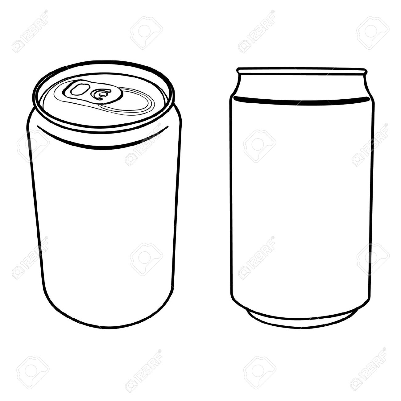 Black And White Cans
