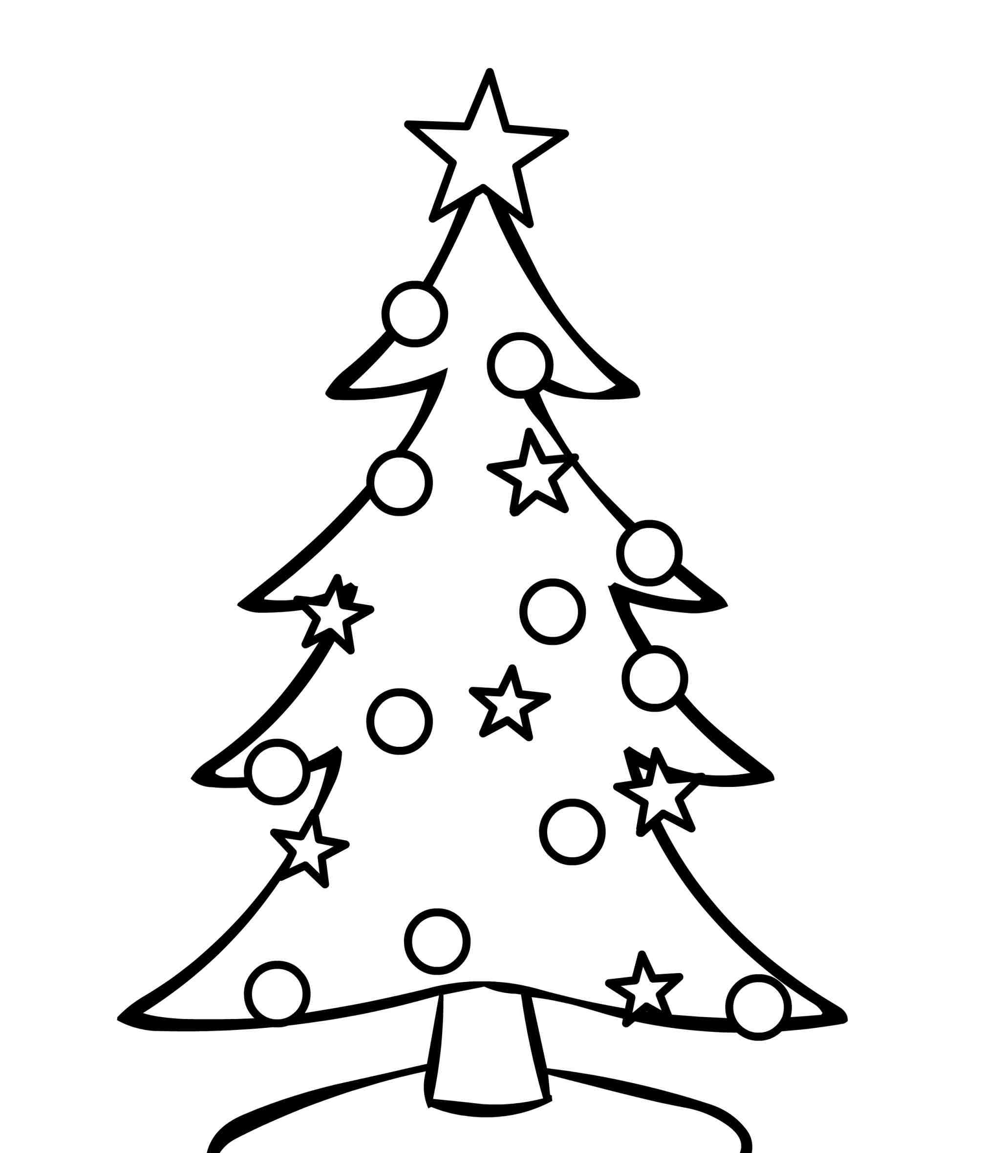 Black And White Christmas Tree Clipart