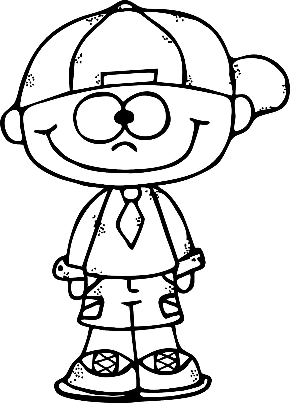 Black And White Clipart Boy