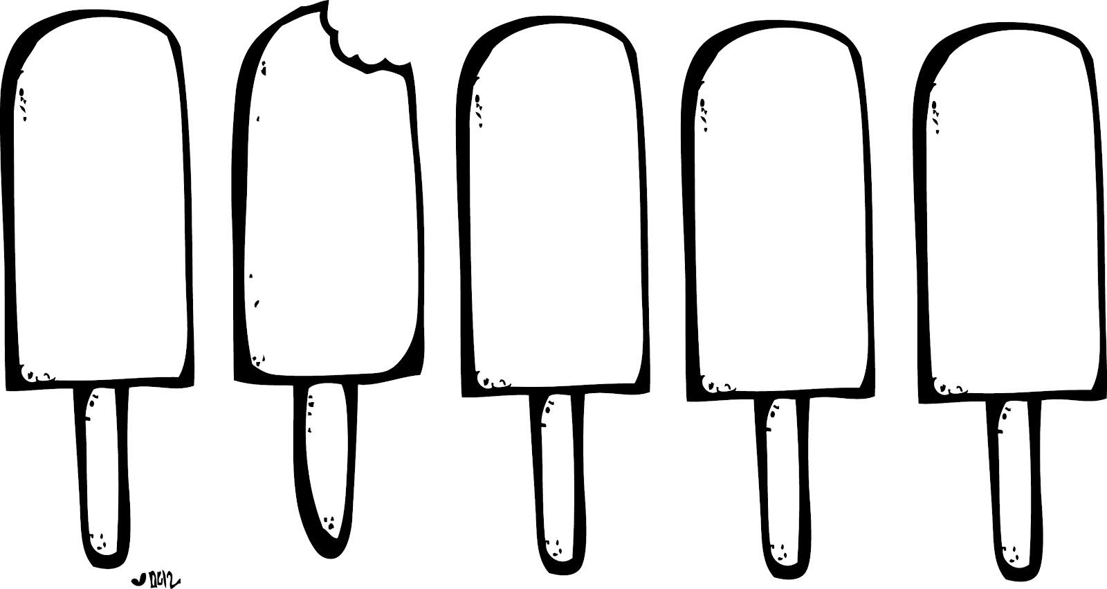 Black And White Clipart Ice Cream