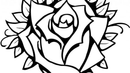 flowers rose line drawing clipart flower clip simple bouquet single clipartmag