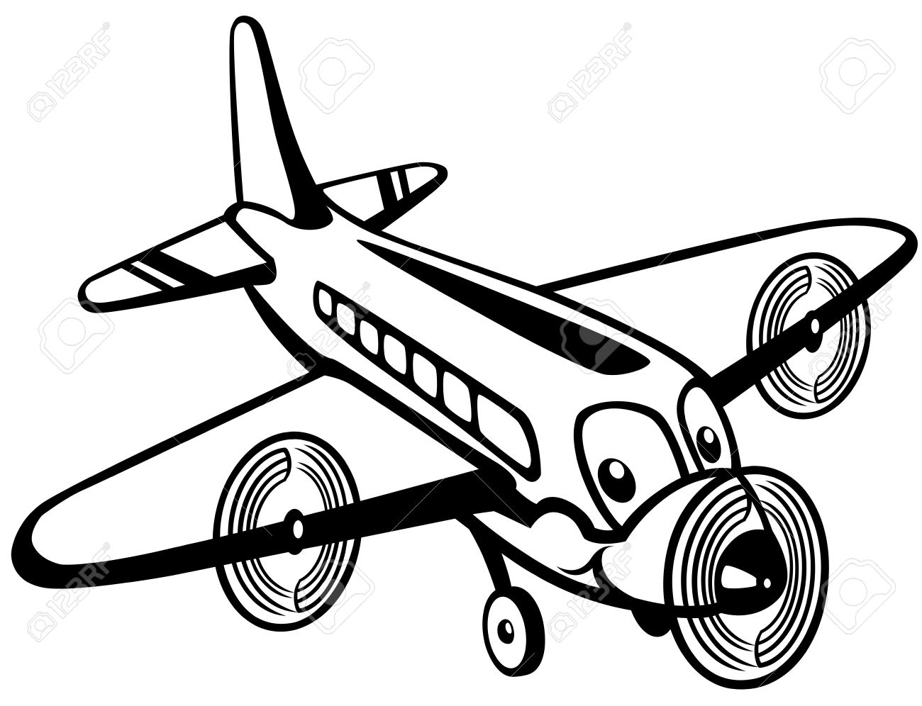 Black And White Clipart Toys