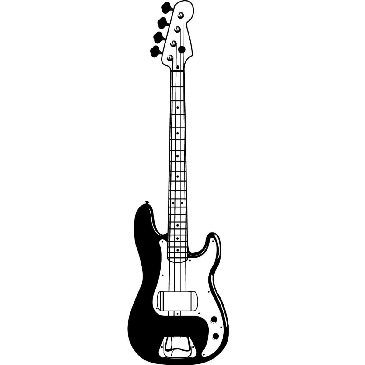 Black And White Guitar