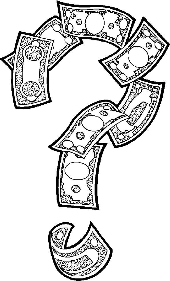 White Dollar Sign