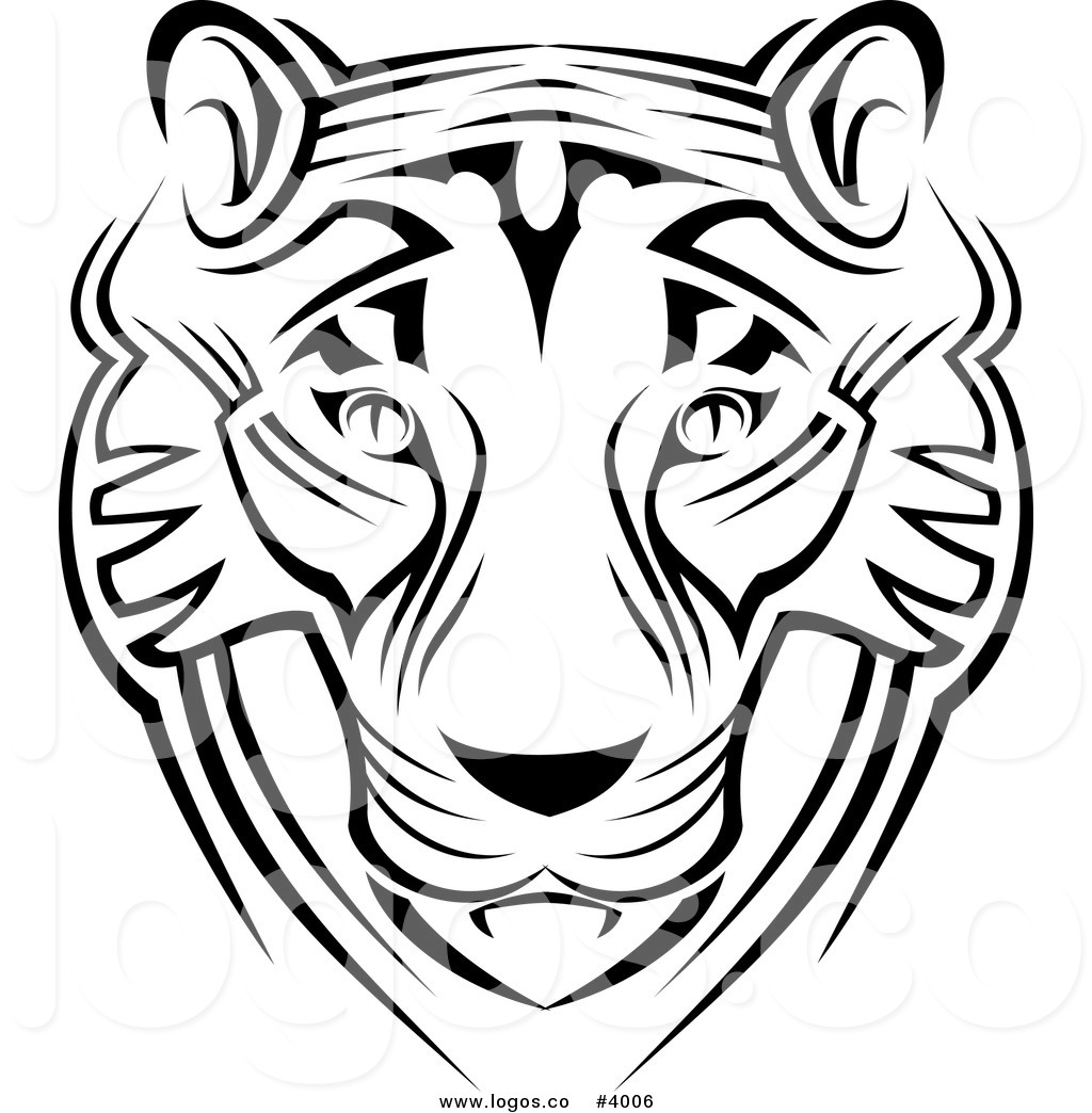 Black And White Tiger Clipart