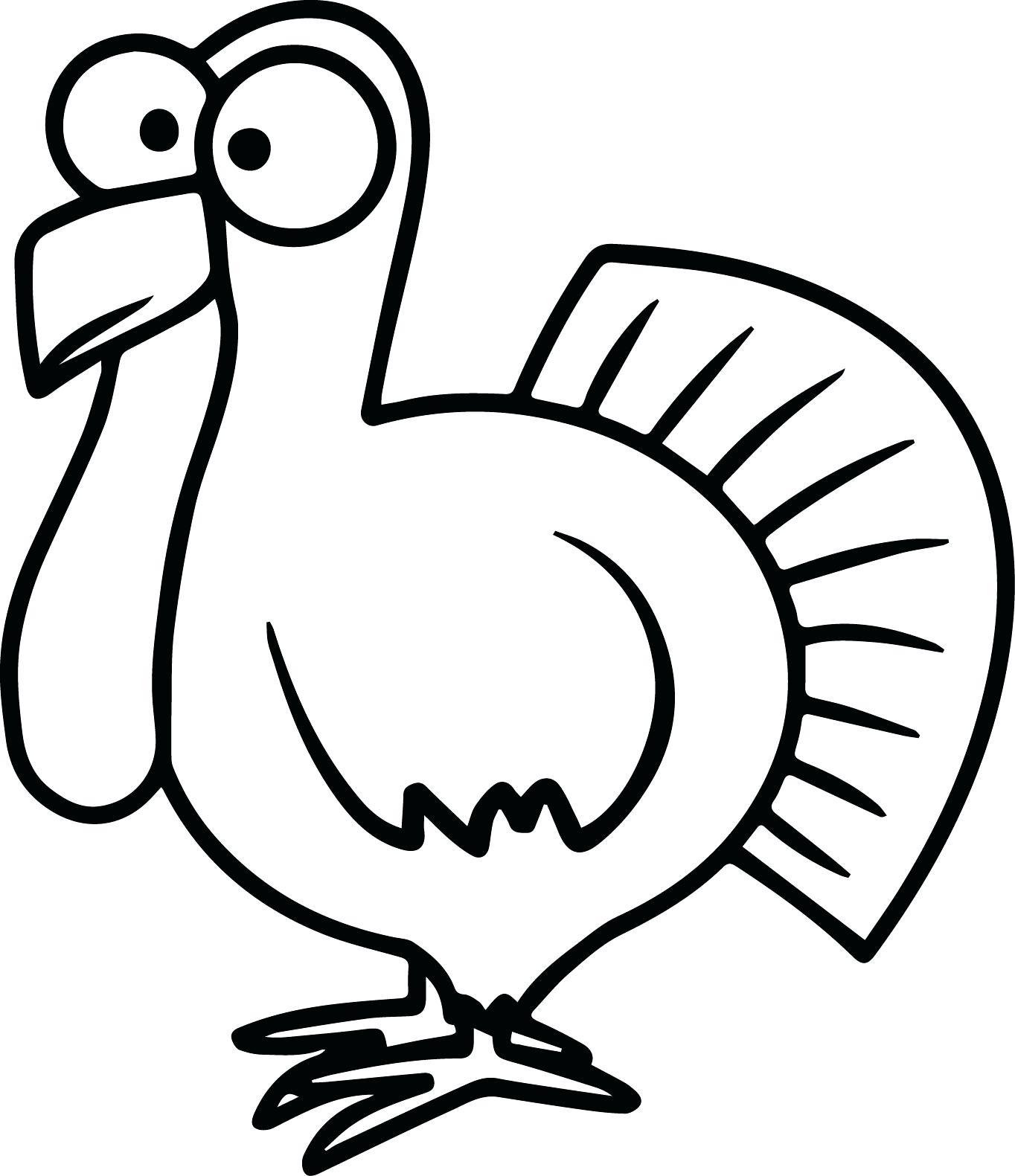 Black And White Turkey Clipart