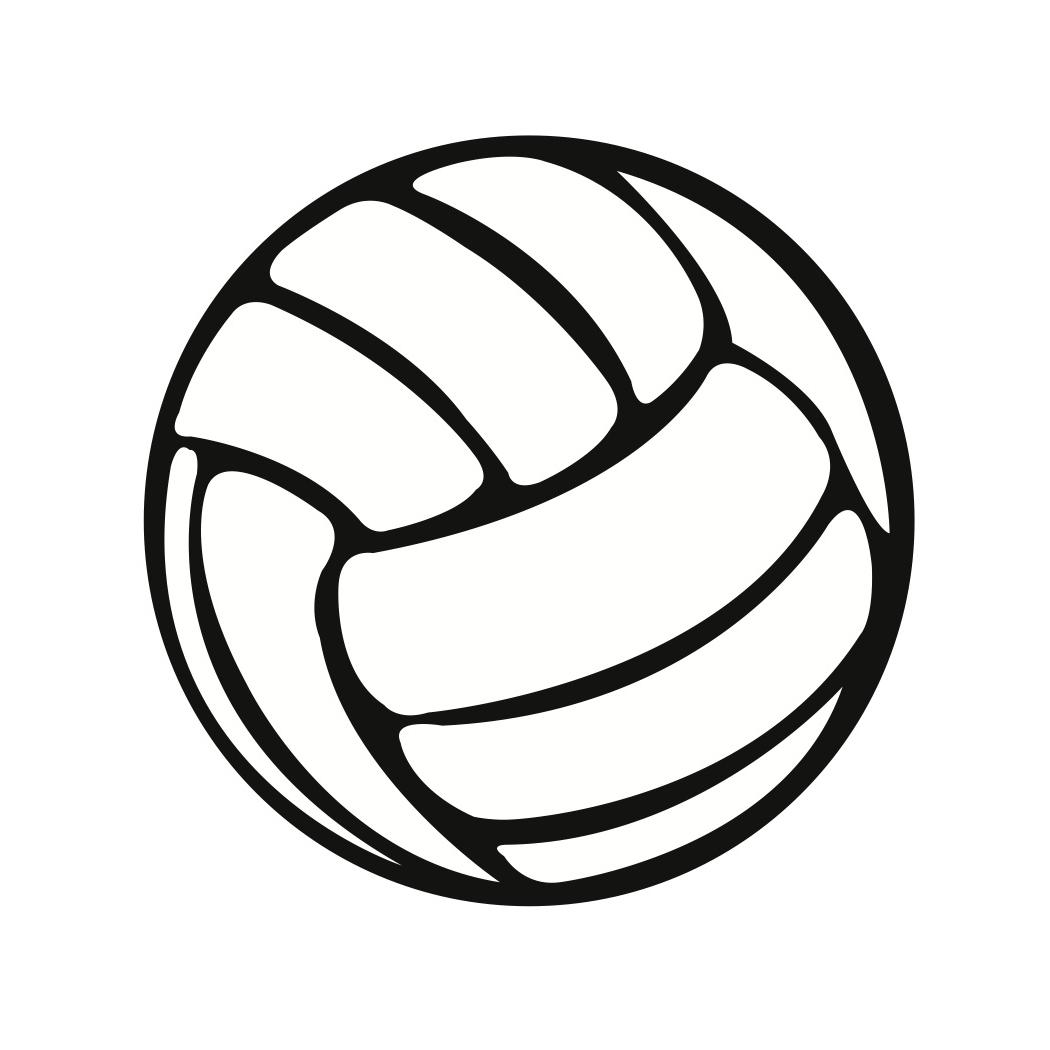 Black And White Volleyball