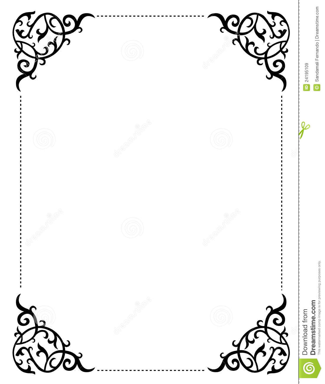 Blank Luau Invitation Borders