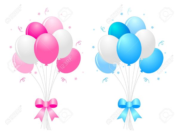 blue balloons clipart free