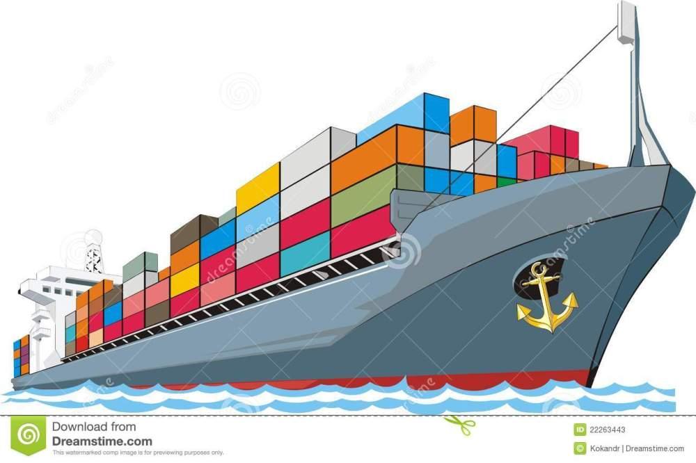 medium resolution of 1300x867 boat clipart cargo ship