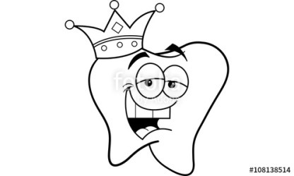 body clip cartoon parts tooth outline care dental coloring clipart king crown hygiene healthcare line health funny medical humorous smiling