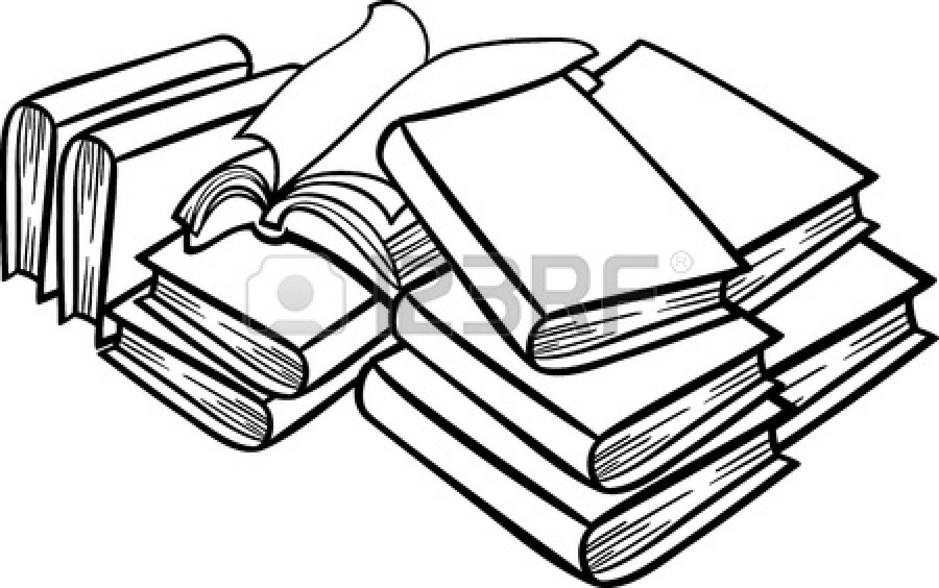 hight resolution of 1350x846 book clipart sketch