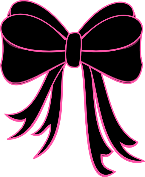 bow outline clipart free