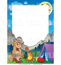 1024x1044 hd camping clipart vector of boy scout roasting hot dog frame by [ 1024 x 1044 Pixel ]
