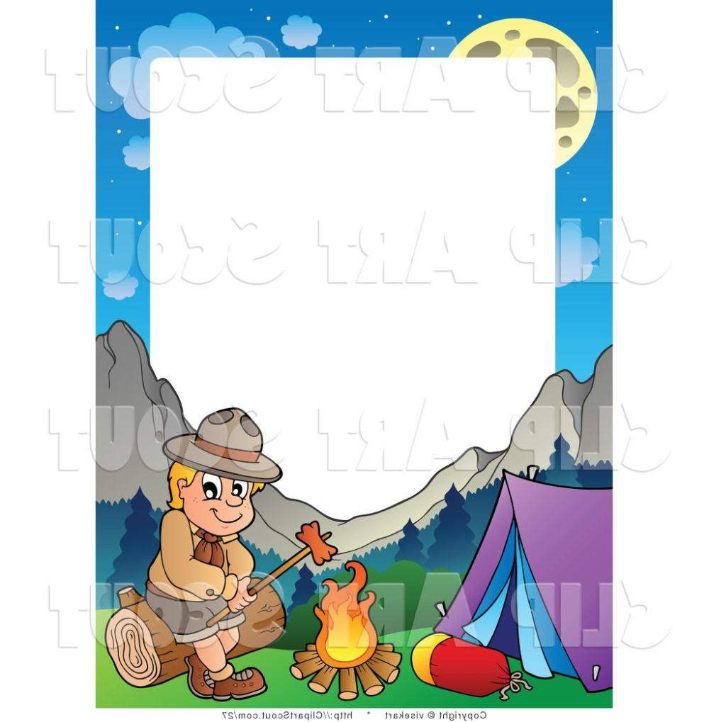 medium resolution of 1024x1044 hd camping clipart vector of boy scout roasting hot dog frame by