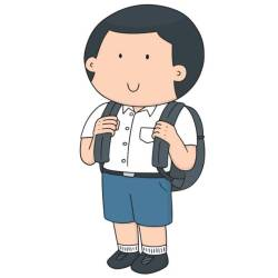 student clipart uniform thai boy vector animated clip illustrations clipartmag cartoons