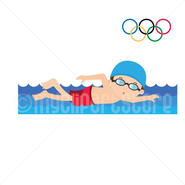 Boy Swimming Clipart Free