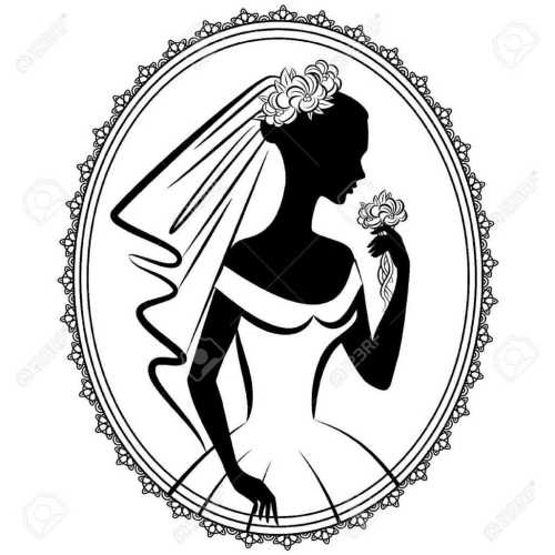 small resolution of 1027x1027 bridal gown bridal shower silhouette clip art bridal gowns