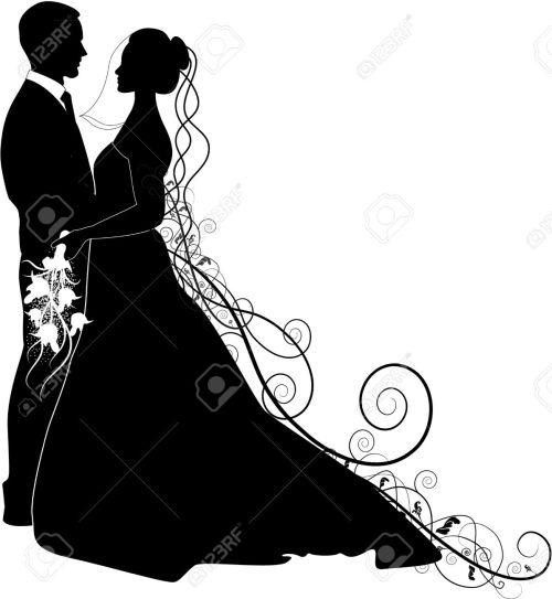 small resolution of 1195x1300 bride clipart bridegroom