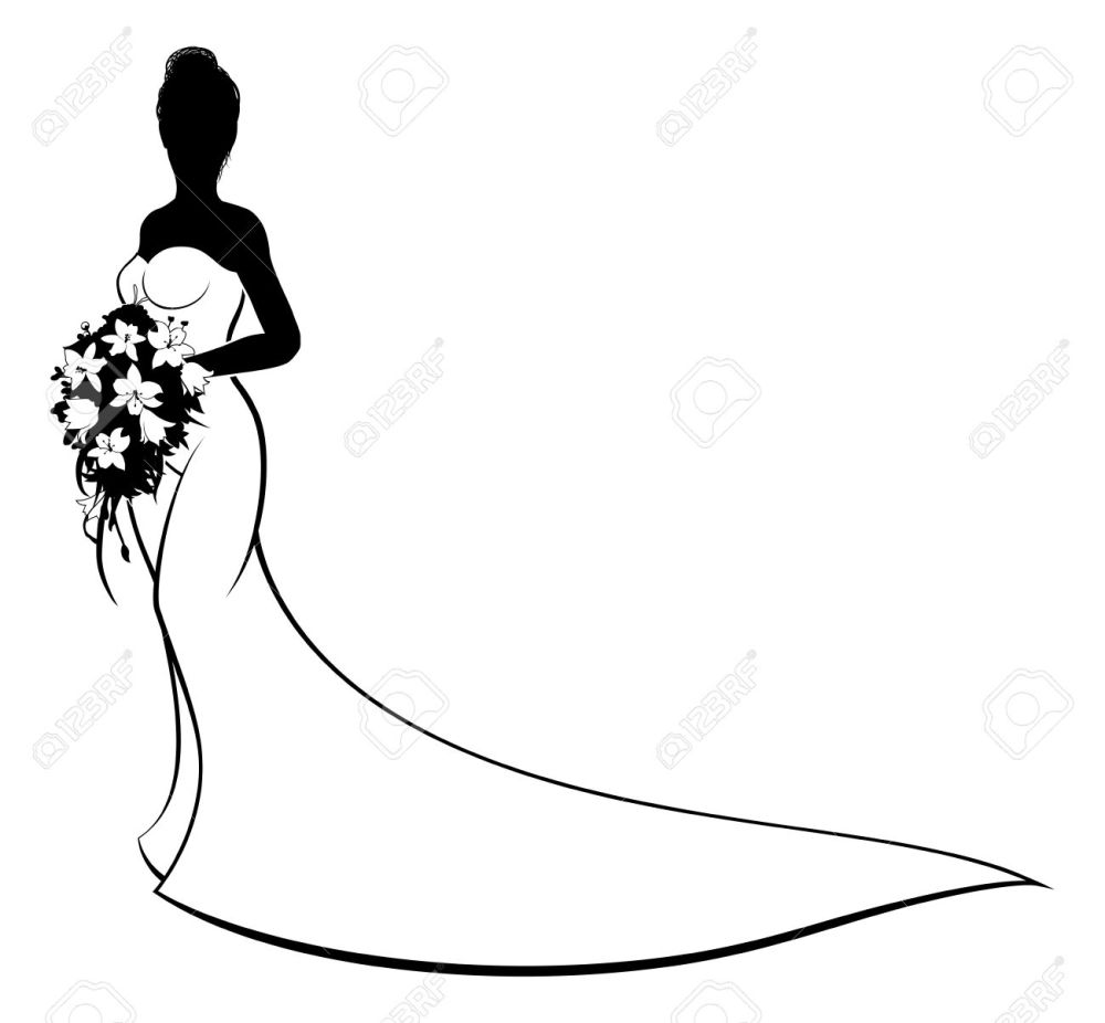medium resolution of 1300x1205 bride clipart vector